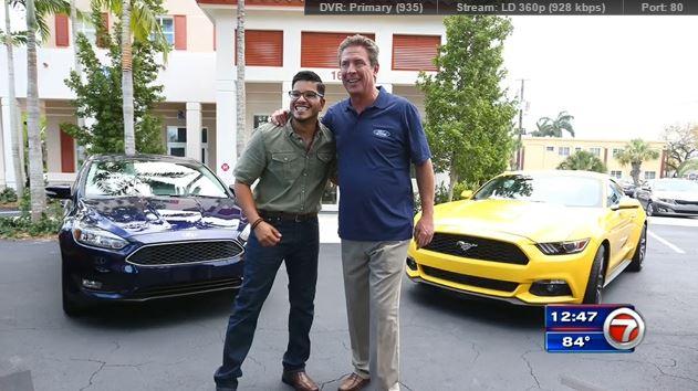 Photo of Dan Marino  - car