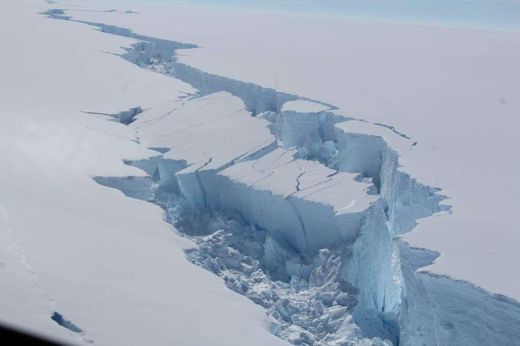 Iceberg breaks off Antarctica. British Antarctic Survey