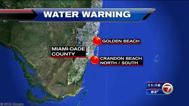 Florida Beach Bacteria Map Health department issues swim advisory for South Florida beaches