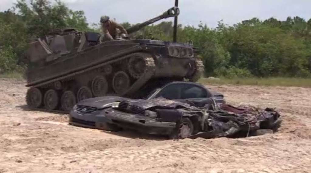 Crush Cars With An 18 Ton Tank At Tank America In Melbourne Wsvn 7news Miami News Weather Sports Fort Lauderdale