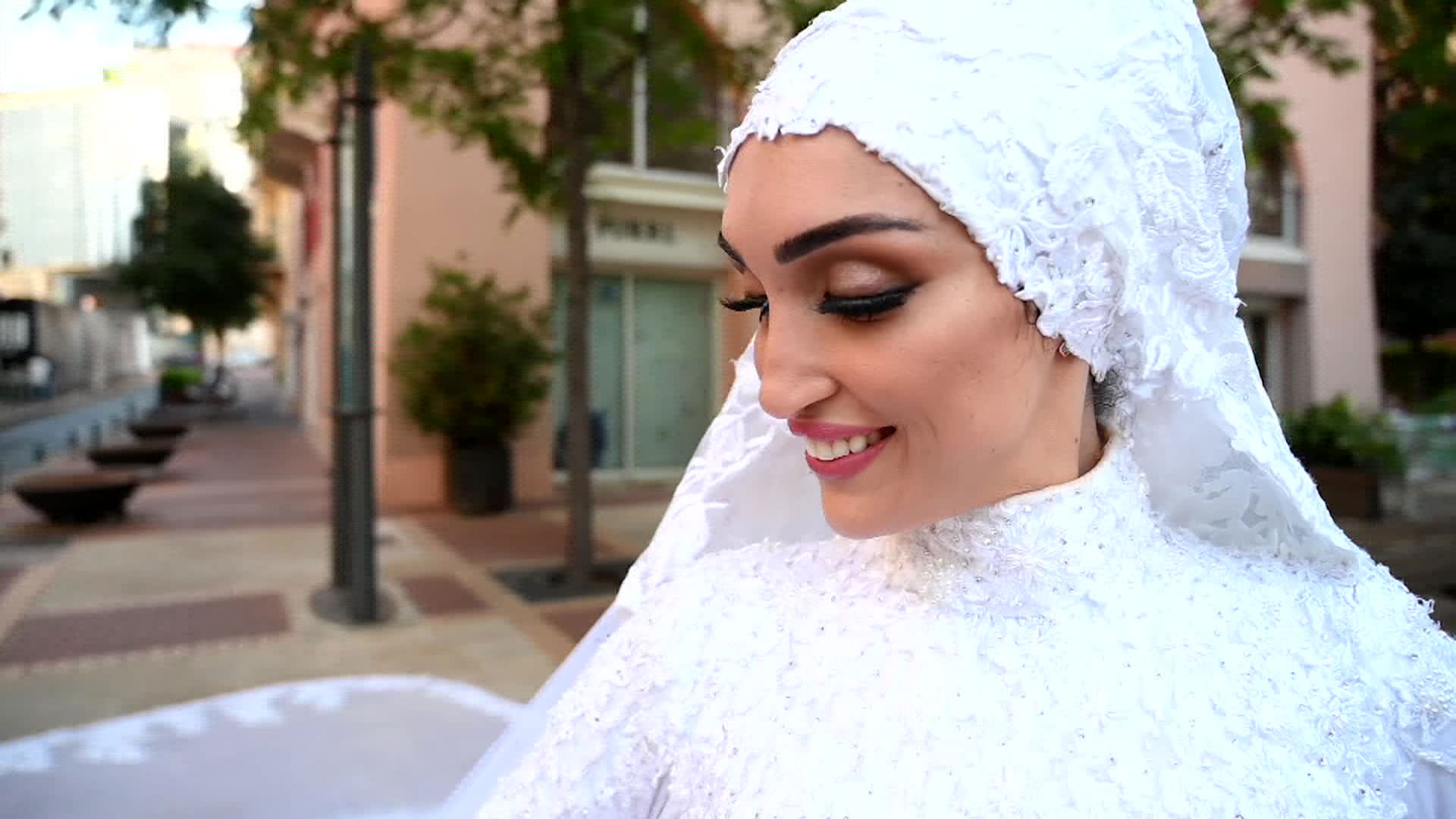One moment, they were filming the bride in her wedding dress. Then ...