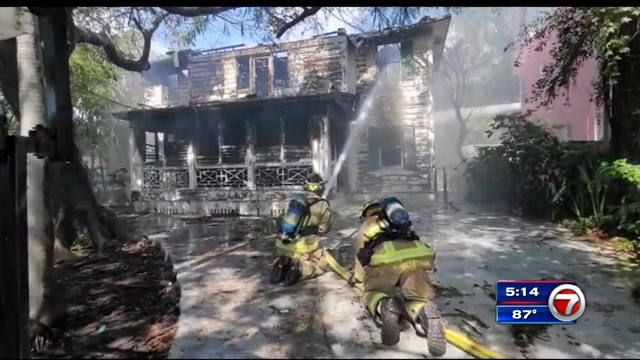 210725 Miami historical house fire